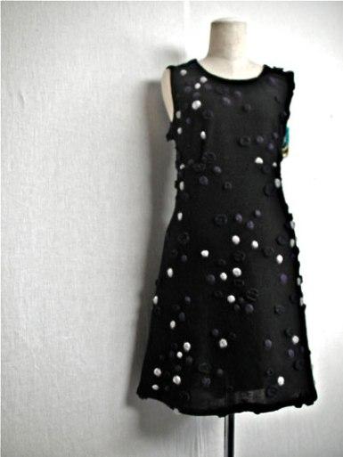 Wool Sleeveless Mini Winter Dress