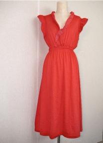 Red Jersey Summer Dress