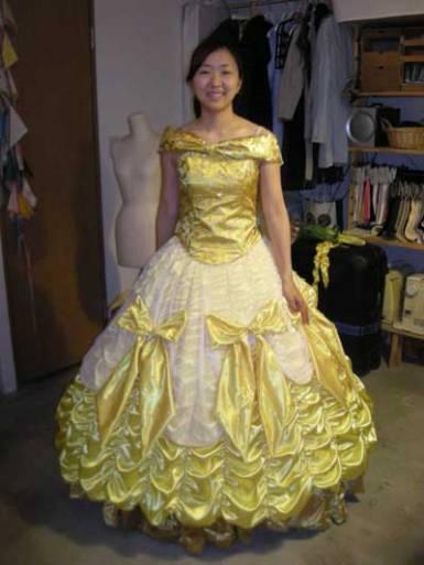 Bell in her dress
