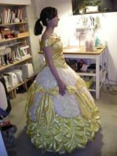 Bell in her dress side