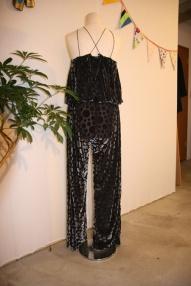 Velvet Jumpsuit with inserted bra