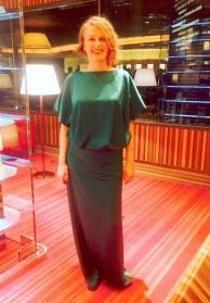 Green Silk Dress 40.000