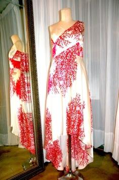 Silk Dress with Bias Cut Asymmetric Skirt and Wrap Top ¥60.000