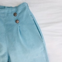 Pocket inserted in Side Seam