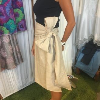 Linen Skirt with Ribbon