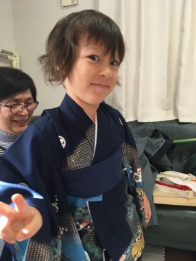 Little Boy loves his kimono